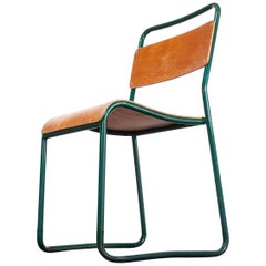 1940s Cox Green Stacking Tubular Metal Dining Chair, Set of Four