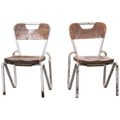 1940s Cox Tubular Metal Original Children's Chairs, Pair