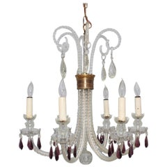 1940s Cut-Glass French Chandelier