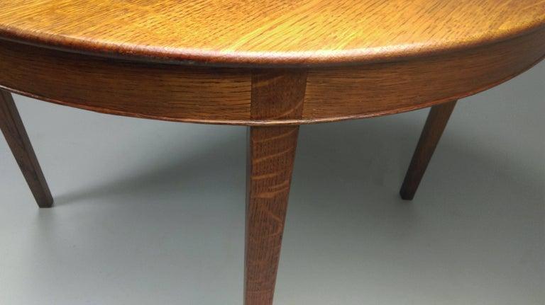 Mid-Century Modern 1940s Danish A.J. Iversen Coffee Table in Oak For Sale