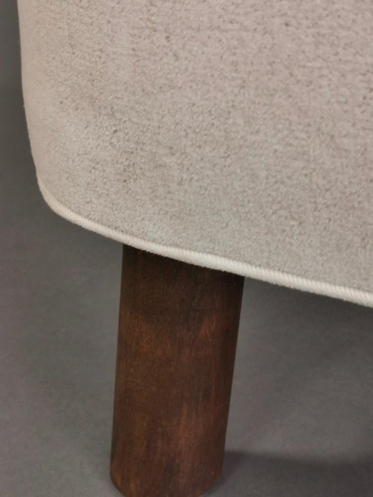 1940s Danish Easy Chair, Velvet Mohair For Sale 12