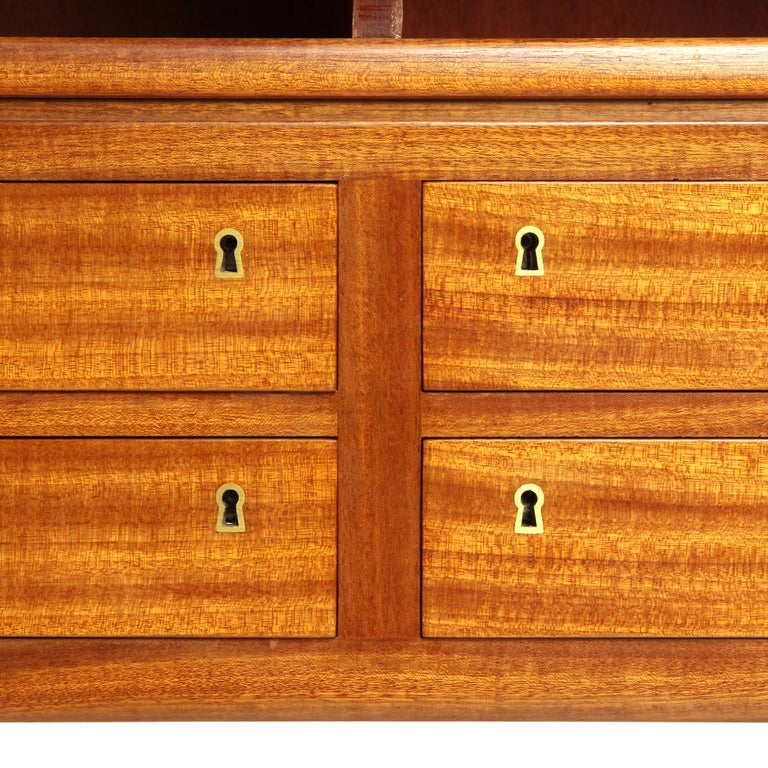 1940s Danish Mahogany Cabinet by Ole Wanscher for A.J. Iversen In Good Condition For Sale In Sagaponack, NY