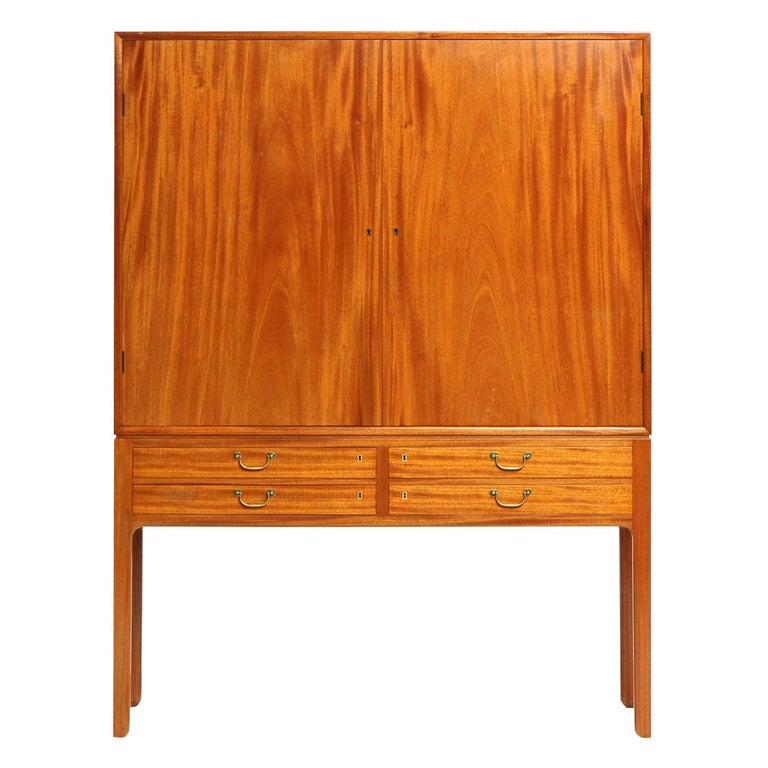 1940s Danish Mahogany Cabinet by Ole Wanscher for A.J. Iversen For Sale