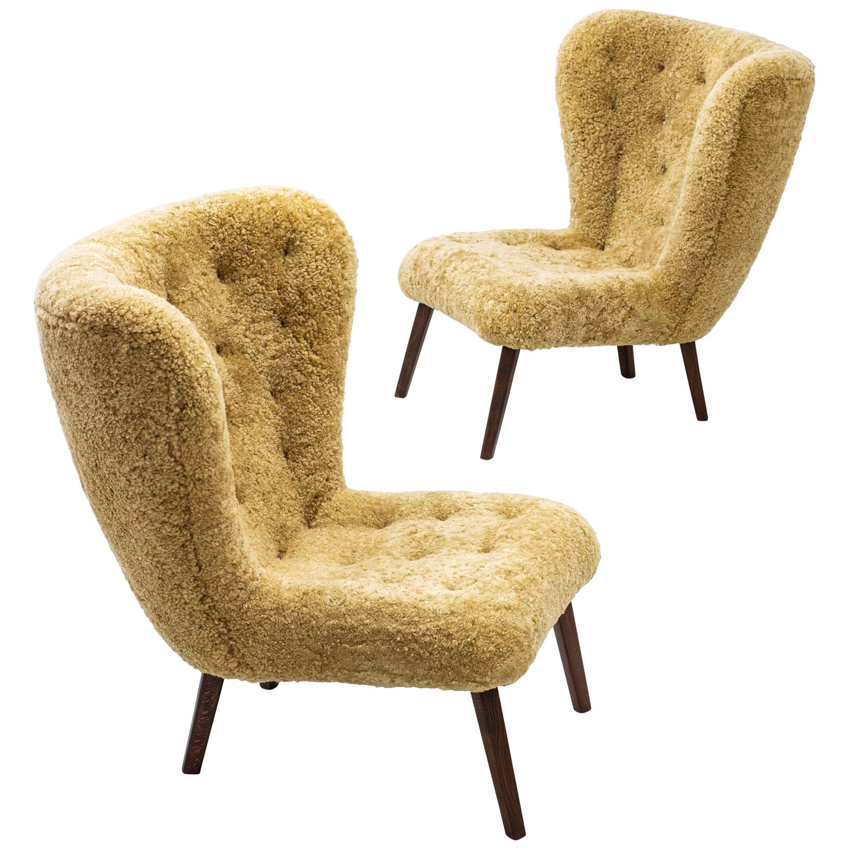 1940s Danish Modern Lounge Chairs in the Manner of Viggo Boesen