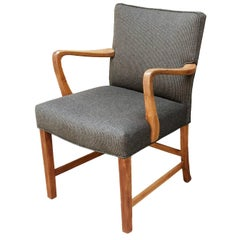 1940s Danish Oak Armchair by Aksel Bender Madsen, 2 Available