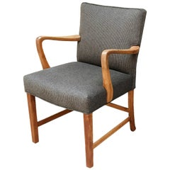 1940s Danish Oak Armchair by Aksel Bender Madsen