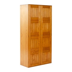 1940s Danish Pine Wardrobe by Mogens Koch for Rud Rasmussen
