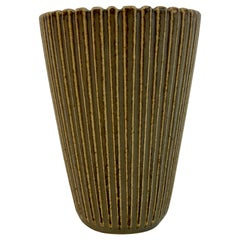 1940s Danish Stoneware Vase by Arne Bang