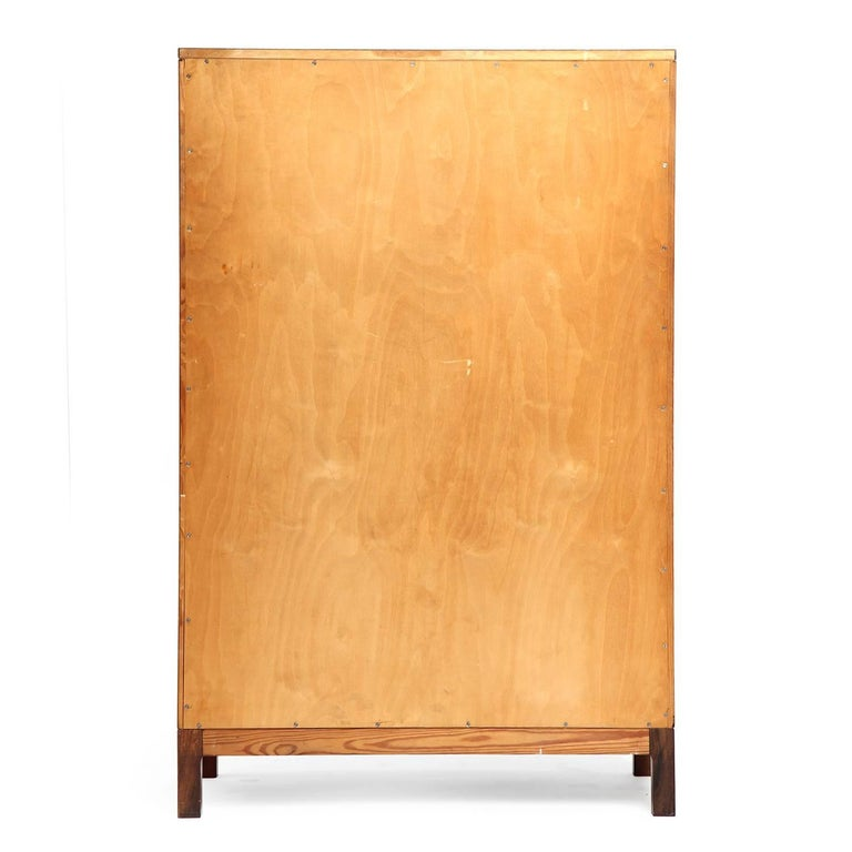 Scandinavian Modern 1940s Danish Tall Rosewood Chest of Drawers by Ole Wanscher for A.J. Iversen For Sale