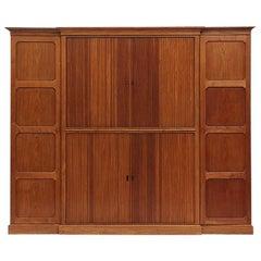 1940s Danish Tambour Door Cabinet by Rudolf Rasmussen