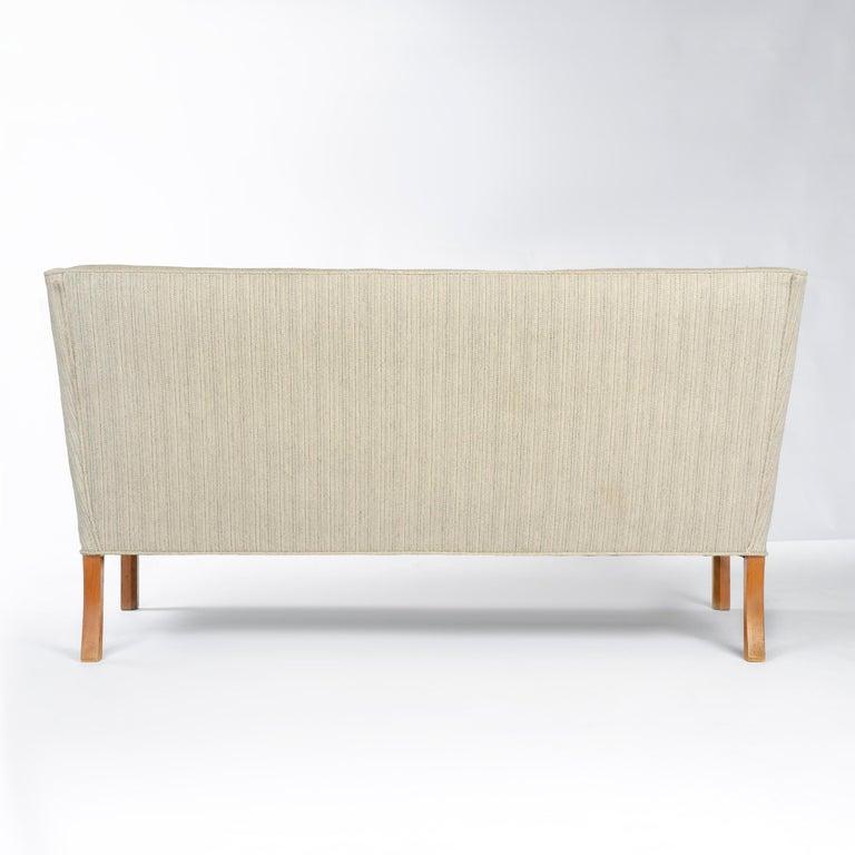 Scandinavian Modern 1940s Danish Upholstered Settee by Ole Wanscher for A.J. Iversen For Sale