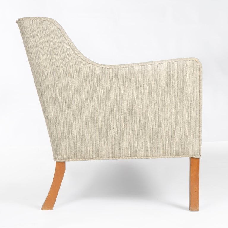1940s Danish Upholstered Settee by Ole Wanscher for A.J. Iversen In Good Condition For Sale In Sagaponack, NY