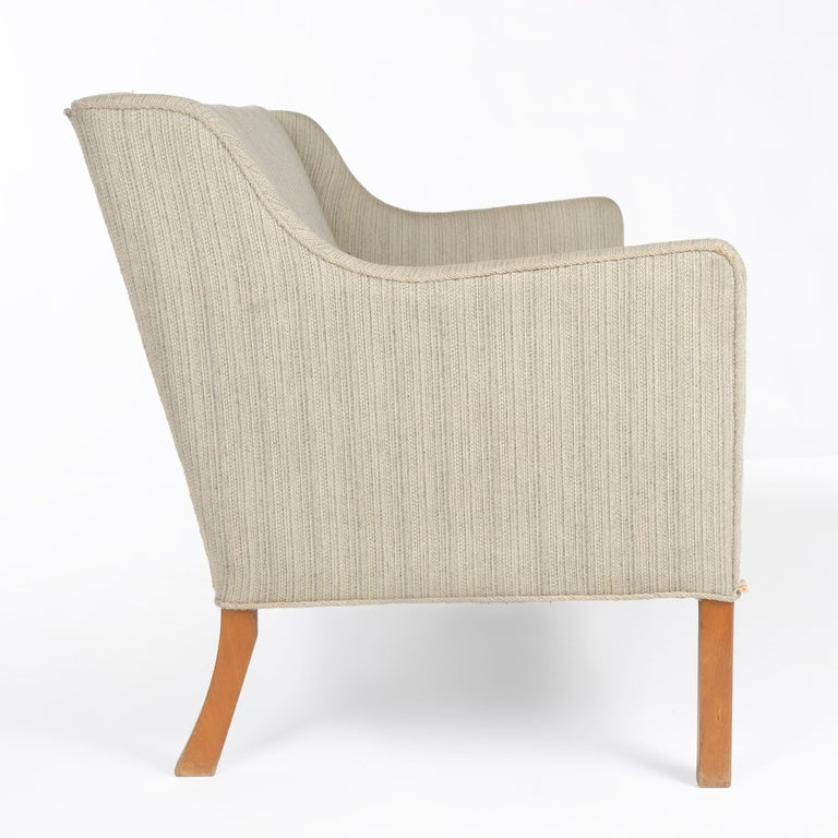 Mid-20th Century 1940s Danish Upholstered Settee by Ole Wanscher for A.J. Iversen For Sale