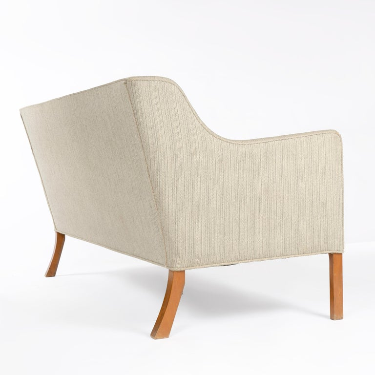 Upholstery 1940s Danish Upholstered Settee by Ole Wanscher for A.J. Iversen For Sale