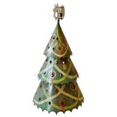 1940s Detroit Department Store Display Christmas Tree in Original Paint