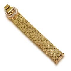 1940s Diamond and Gold Bracelet, French