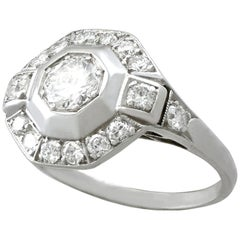 1940s Diamond and Platinum Cocktail Ring