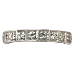 1940s Diamond and White Gold Full Eternity Ring