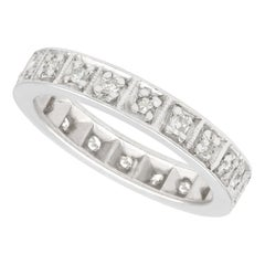 1940s Diamond and White Gold Full Eternity Ring