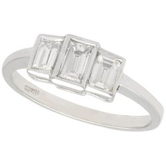 1940s Diamond and White Gold Trilogy Engagement Ring