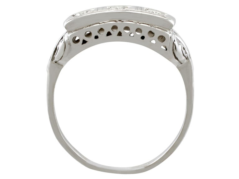 Women's or Men's 1940s Diamond and White Gold Trilogy Ring, circa 1940 For Sale