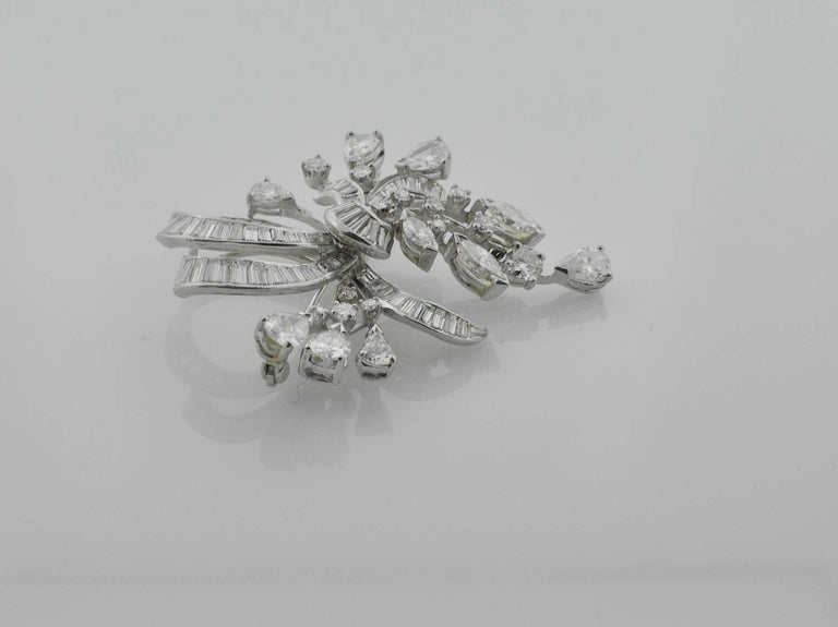 1940s Diamond Brooch and Pendant For Sale 1