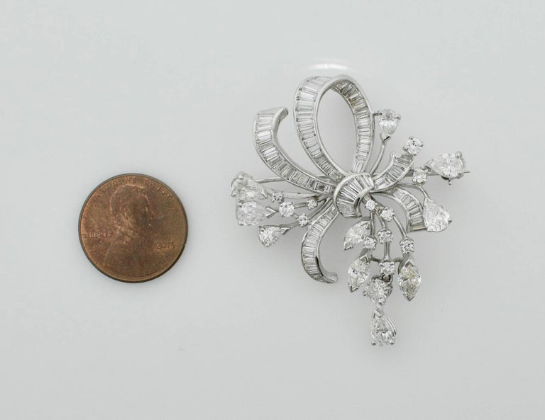 1940s Diamond Brooch and Pendant For Sale 3