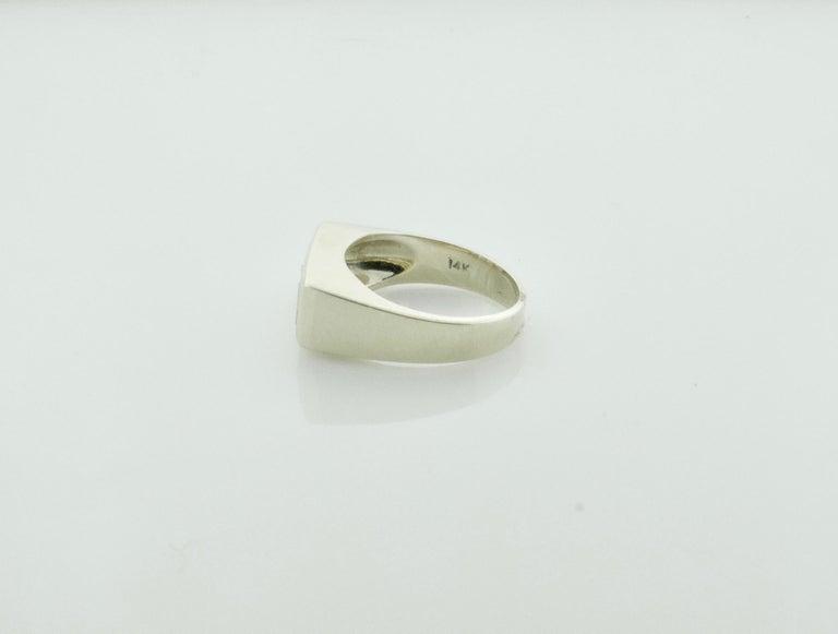 Retro 1940s Diamond Ring 1.20 Carat of Emerald Cuts For Sale