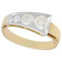 1940s Diamond Yellow Gold Dress Ring