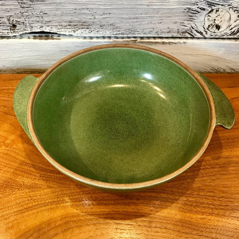 Mid-Century Modern 1940s Early Edith Heath Ceramics Winged Covered Serving Bowl For Sale