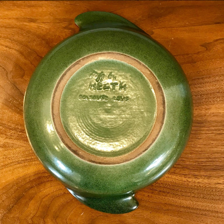 American 1940s Early Edith Heath Ceramics Winged Covered Serving Bowl For Sale