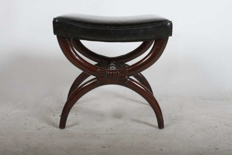 1940s Edward Wormley for Dunbar Regency X Form Bench or Stool For Sale 1