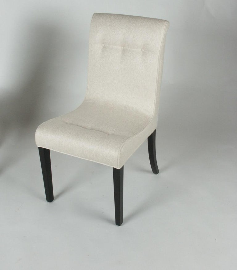 1940s Edward Wormley for Dunbar Set of Four Side Chairs For Sale 4