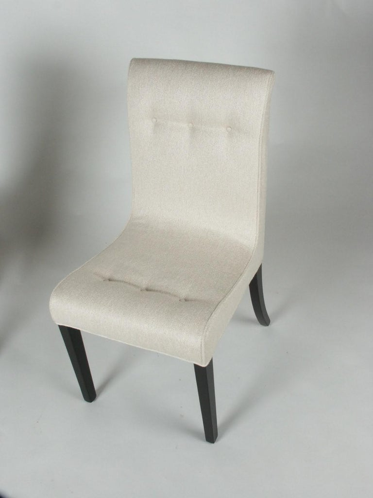 1940s Edward Wormley for Dunbar Set of Four Side Chairs For Sale 5
