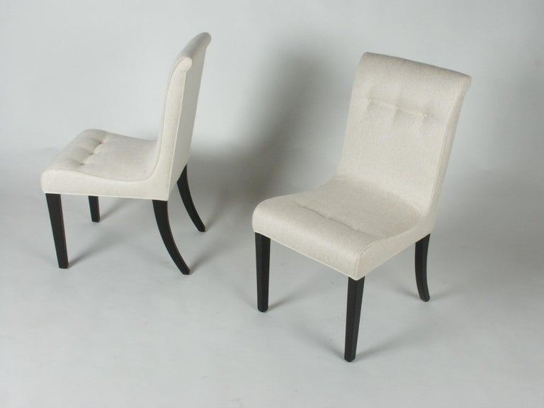 Mid-Century Modern 1940s Edward Wormley for Dunbar Set of Four Side Chairs For Sale