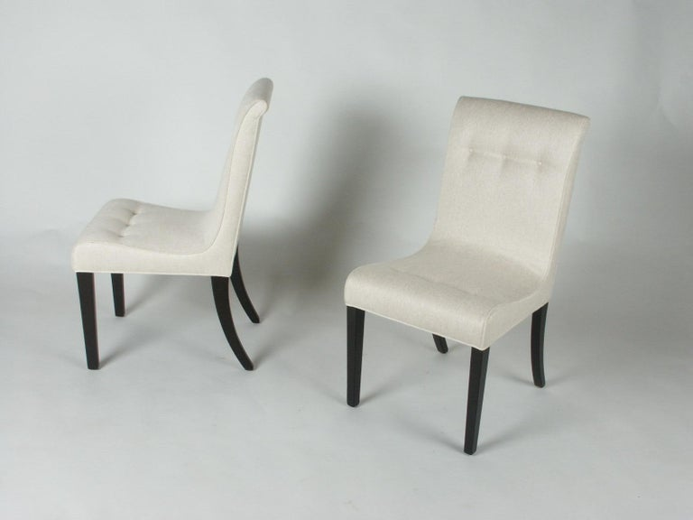 American 1940s Edward Wormley for Dunbar Set of Four Side Chairs For Sale