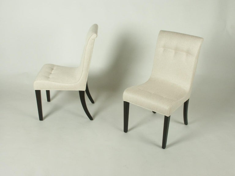 1940s Edward Wormley for Dunbar Set of Four Side Chairs In Excellent Condition For Sale In St. Louis, MO