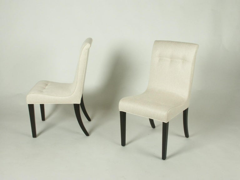 Mid-20th Century 1940s Edward Wormley for Dunbar Set of Four Side Chairs For Sale