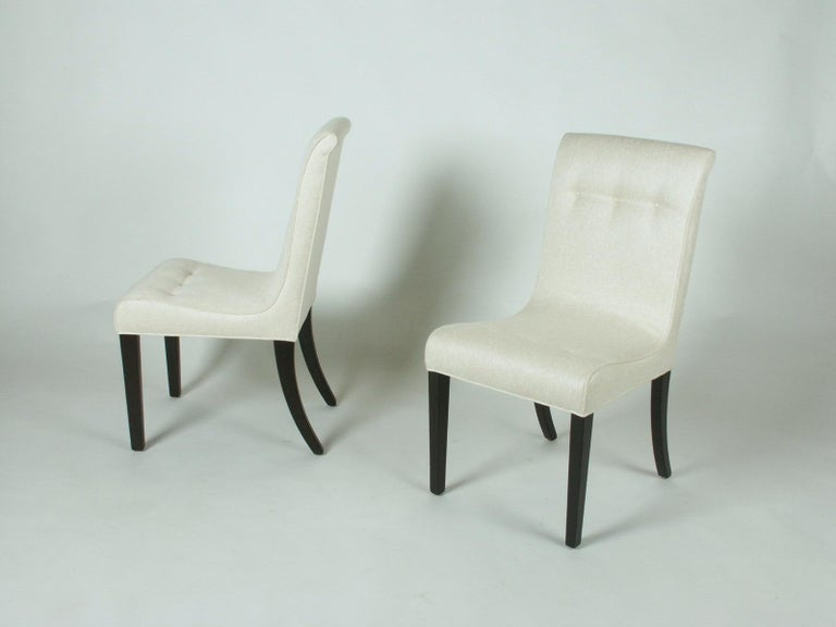 Upholstery 1940s Edward Wormley for Dunbar Set of Four Side Chairs For Sale