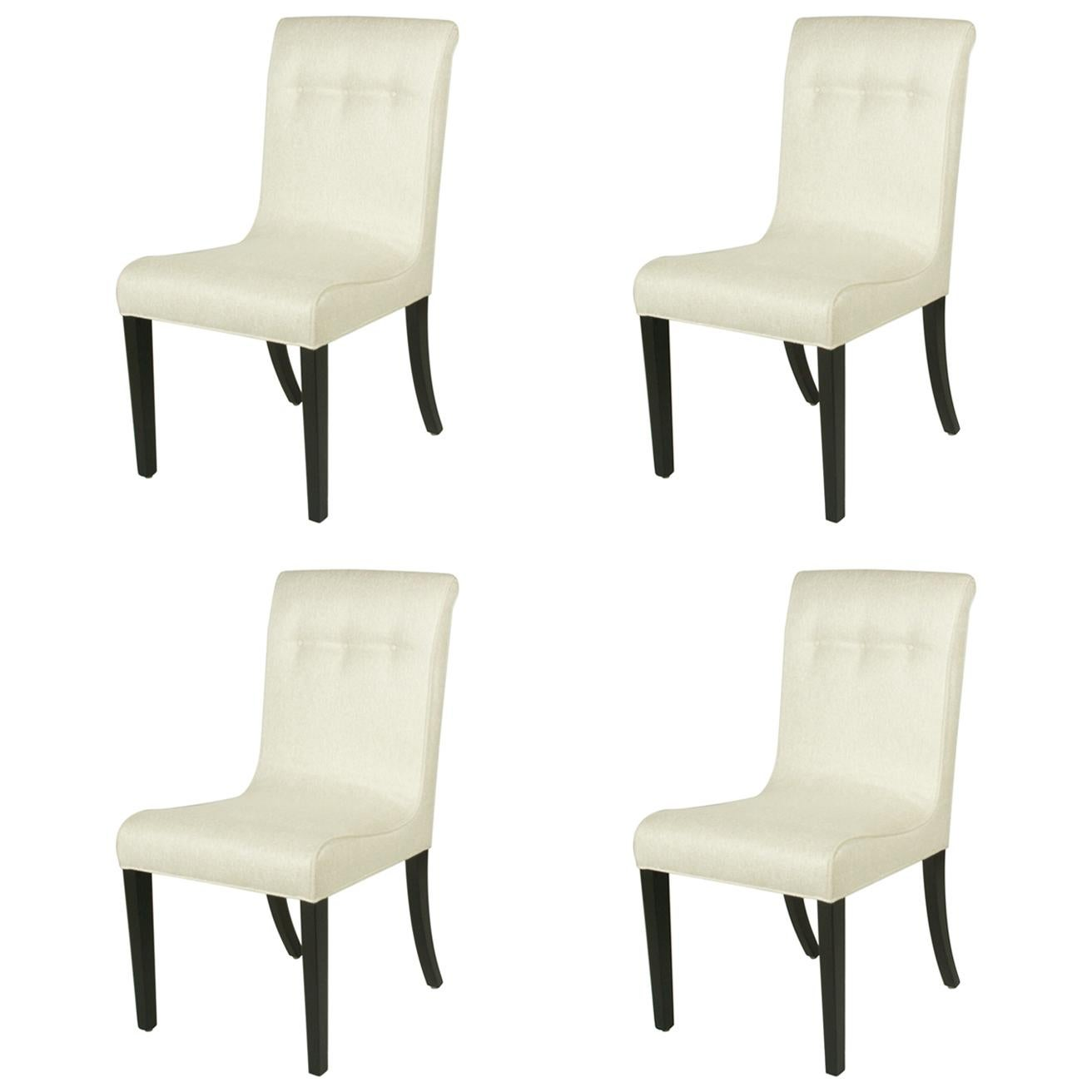 1940s Edward Wormley for Dunbar Set of Four Side Chairs