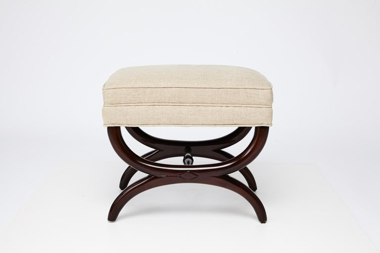 1940s Edward Wormley for Dunbar Stool In Good Condition For Sale In Saint Louis, MO