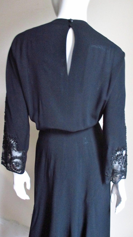 Eisenberg Originals Beaded Lace Panel Dress 1940s For Sale 7