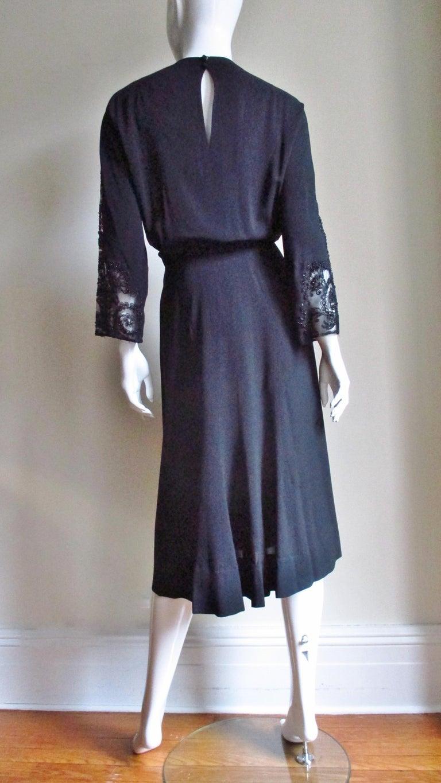 Eisenberg Originals Beaded Lace Panel Dress 1940s For Sale 9