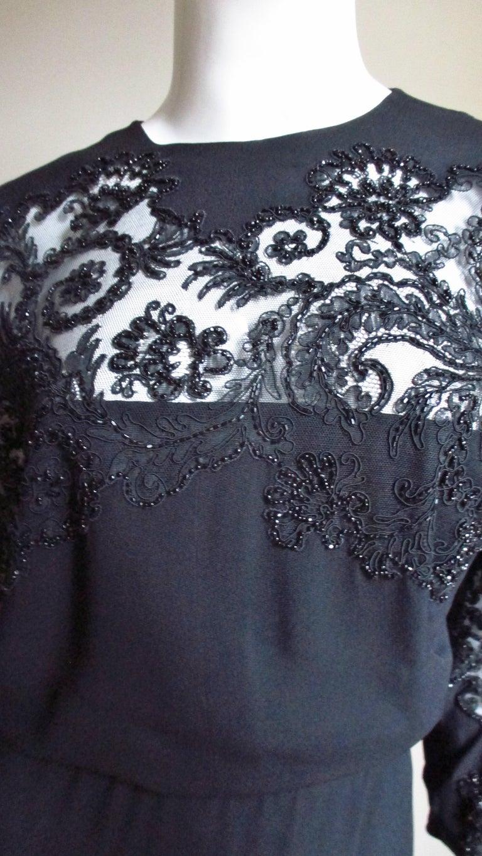 Eisenberg Originals Beaded Lace Panel Dress 1940s For Sale 1