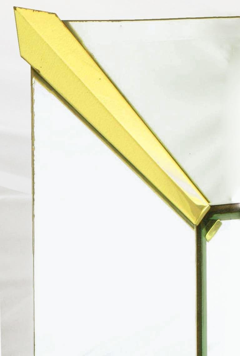 American 1940s Era Art Deco Scalloped Edge Mirror Framed Mirror For Sale