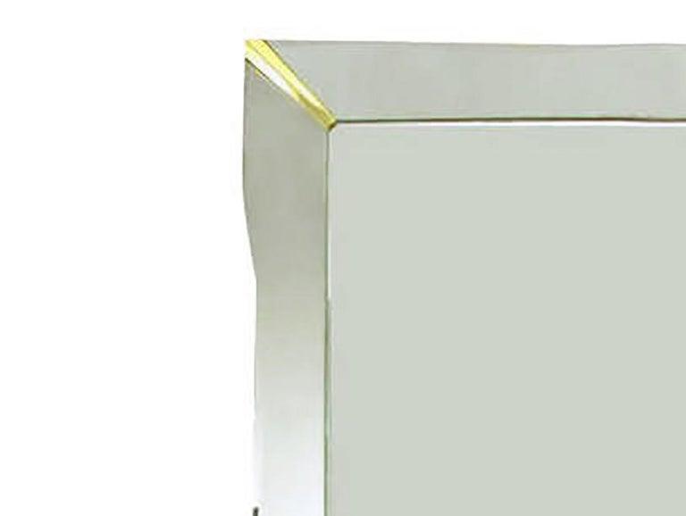 Mid-20th Century 1940s Era Art Deco Scalloped Edge Mirror Framed Mirror For Sale