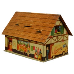 1940s Farmhouse Biscuit Tin, Moneybox for Parein Biscuits, Belgium