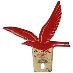 1940s Fleet Wing Oil Gas Die Cut License Plate Topper