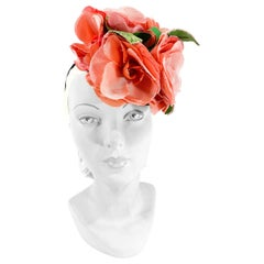 1940s Floral Perch Hat
