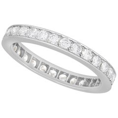 1940s French 1.02 Carat Diamond and White Gold Full Eternity Ring